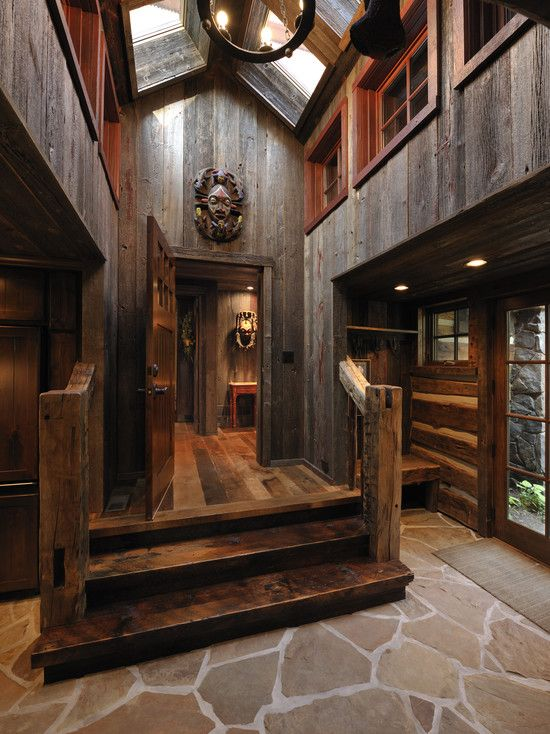 Ok, Not As Overboard... Love The Barn Wood, Rustic Handrails,