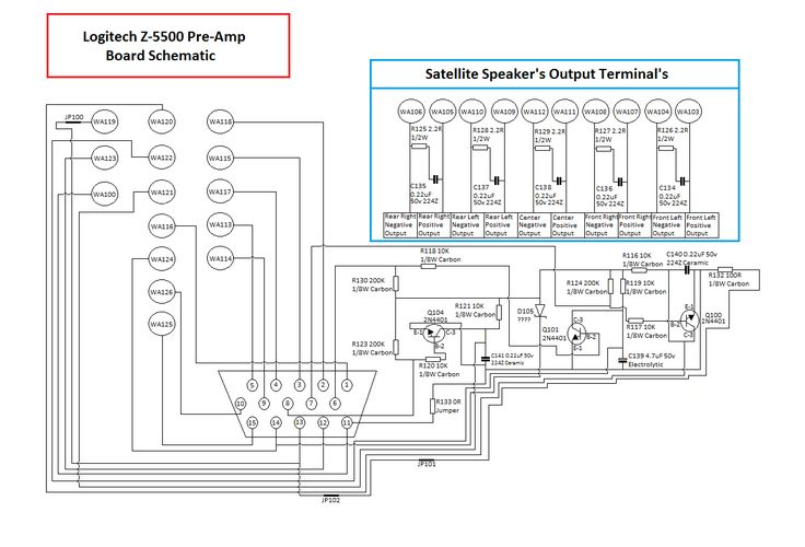 logitech x 530 circuit diagram