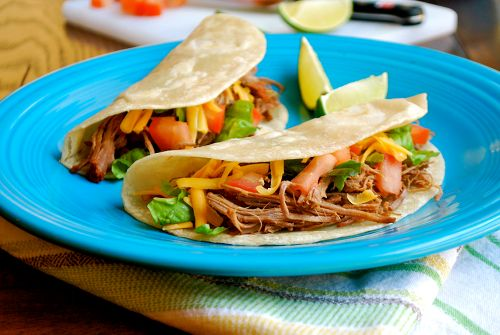 Shredded Tri-Tip Tacos recipe and images by Lacey Baier, a sweet pea chef
