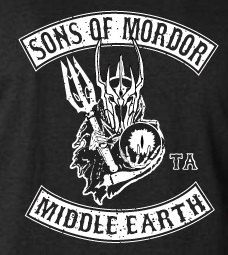 Sons of Mordor Lord of the Rings Funny TShirt Black by 1320Graphix, $16.95. For all the LOTR/Hobbit fans out there!