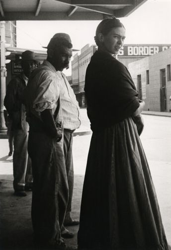 Frida Kahlo at the Border, Laredo, Texas, 1932. Photo by Lucienne Bloch, watch this video and sign my petition, thank you, https://www.youtube.com/watch?v=XClI8FGMVa4