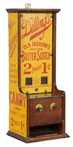 Dilling's Old Fashioned Home Made Butterscotch candy vending machine