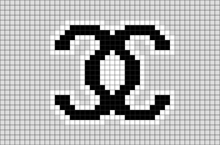 chanel pixel art brik pixel art designs pinterest chanel fashion cross stitch and cross. Black Bedroom Furniture Sets. Home Design Ideas