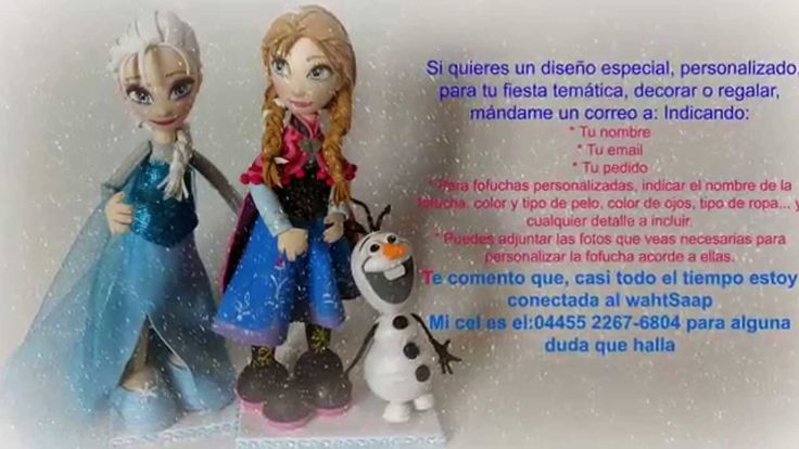 Elsa, Anna y Olaf versión fofucha Centros de mesas personalizadas