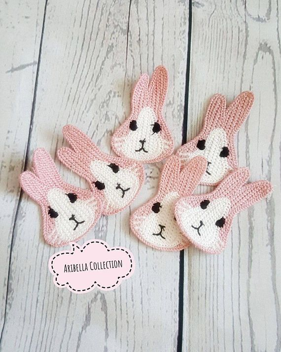 easter bunnies appliques In Pinks