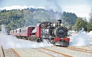 Gisborne's iconic steam train, WA 165
