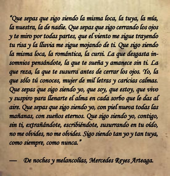 poesía. Mercedes Reyes Artega