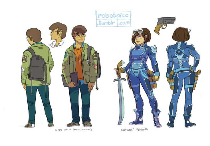 Anime Characters In Ready Player One : Robotnicc wade watts and art mis sketches more to come