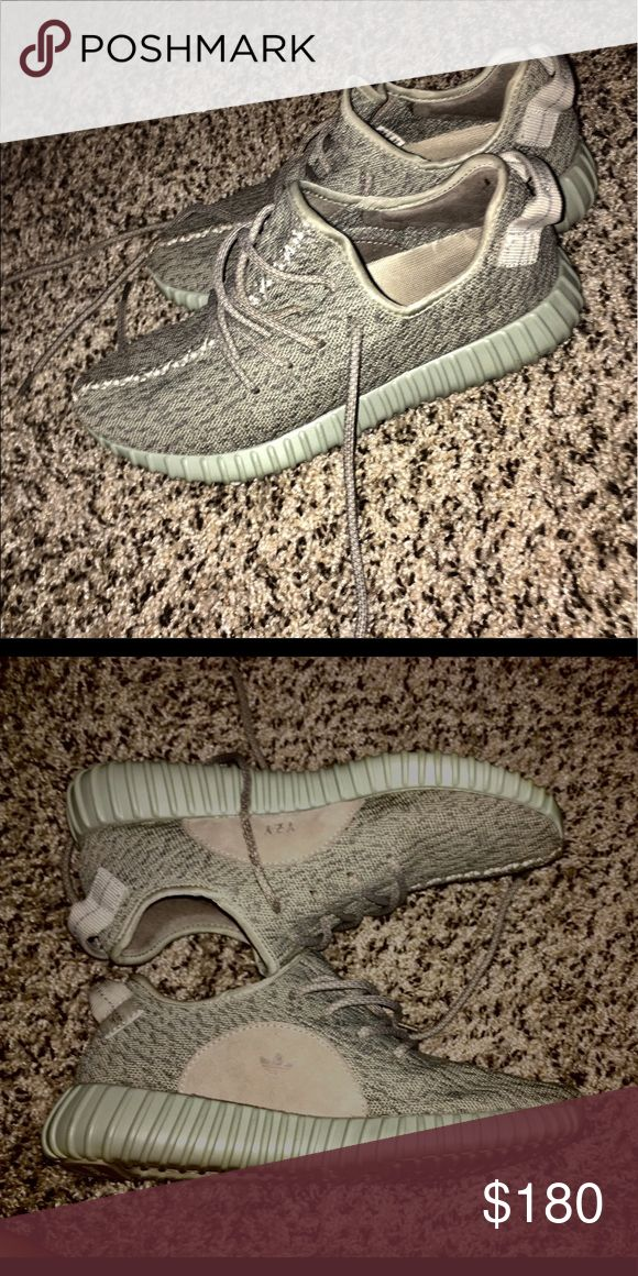Authentic Grey Yeezy's Got these for Christmas but they weren't the ones I wanted and did not fit. Size 8 but if you're a size 9 in women's then these will fit perfectly! Never worn. Best offer! Yeezy Shoes Sneakers