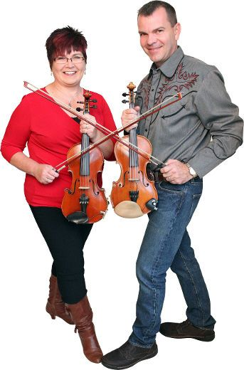 Kendra Woods-Norris and Scott Woods will bring their Twin Fiddle Express to Westminster Presbyterian Church in Barrie on Friday.  SUBMITTED
