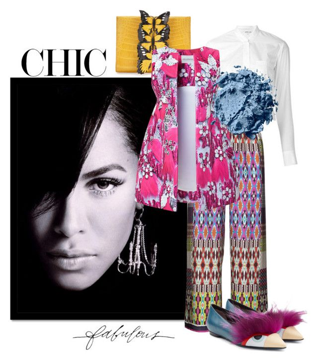 """Chic & Fabulous"" by the-house-of-kasin ❤ liked on Polyvore featuring Nancy Gonzalez, Helmut Lang, aprico, Mary Katrantzou, Fendi and Stella & Dot"
