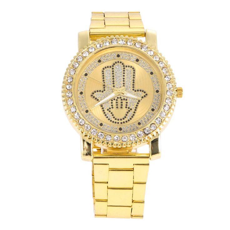 2016 Новая Мода мужские женские Часы Алмазный Женские Часы Из Нержавеющей Стали Золото Серебро Повседневная Кварцевые Часы #shoes, #jewelry, #women, #men, #hats, #watches