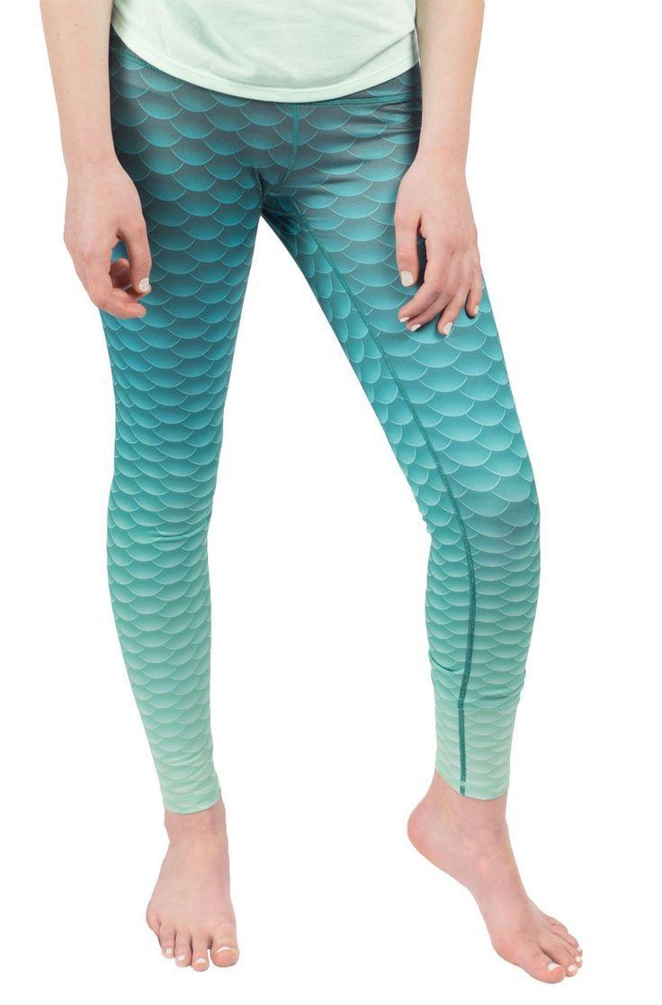 b9d79a235d5 Fin Fun Women s Mermaid Yoga Leggings - Deep Sea Green - Medium.  High-Quality