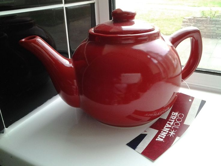 Cool Britannia Red 6 Cup Classic Teapot Ebay Teapots