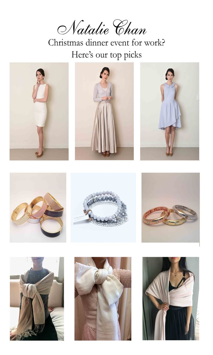 Christmas dinner event wardrobe goals. What to wear. Ivory lace dress: http://www.nataliechan.co.nz/collections/cocktail/products/mia-in-ivory  Maxi grey silk skirt:  http://www.nataliechan.co.nz/products/opera-skirt-in-dove-grey http:/ Bracelets: http://www.nataliechan.co.nz/collections/jewellery Periwinkle collar dress: http://www.nataliechan.co.nz/collections/cocktail/products/madeline-in-perriwinkle Pashmina: http://www.nataliechan.co.nz/collections/pashminas