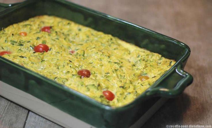 Flan à la Ricotta aux courgettes et Curry
