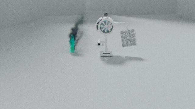 Blender smoke simulation