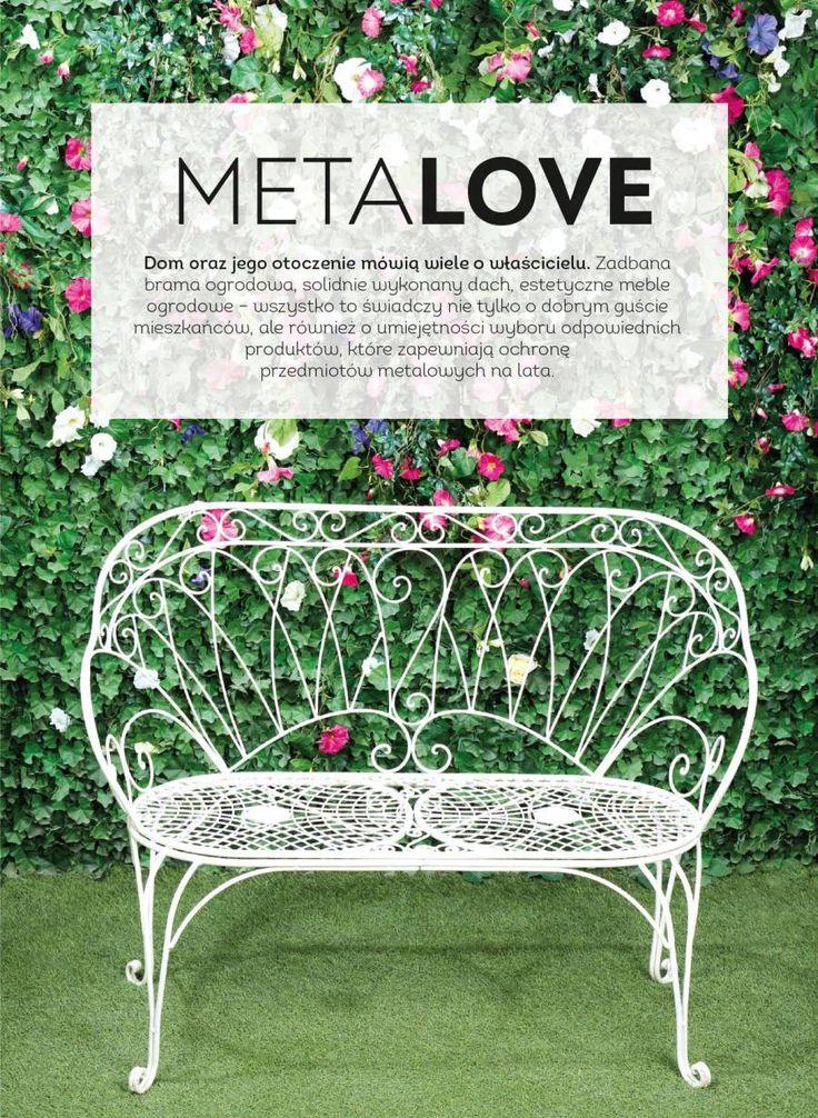 Metalowa ławka