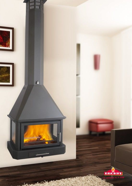 Bronpi Lorca-C Wood Burning Wall Mounted Stove