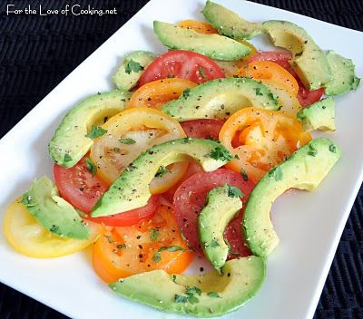 For the Love of Cooking » Avocado and Tomato Salad
