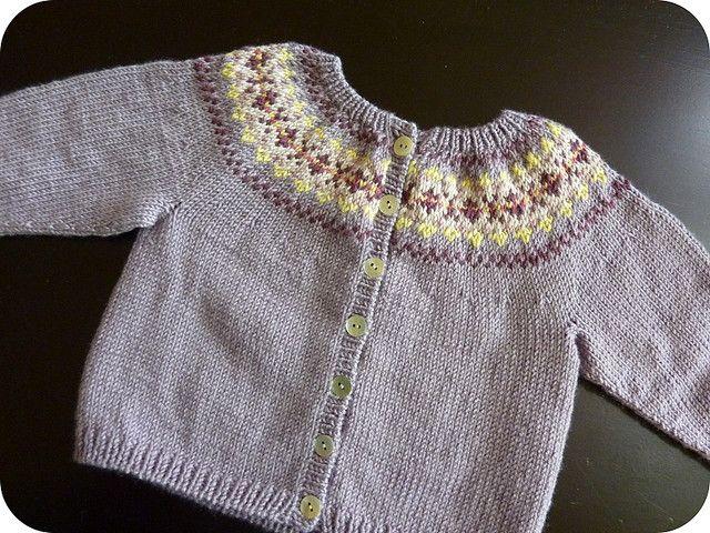 Ravelry: Beaded Fair Isle Cardigan pattern by Debbie Bliss