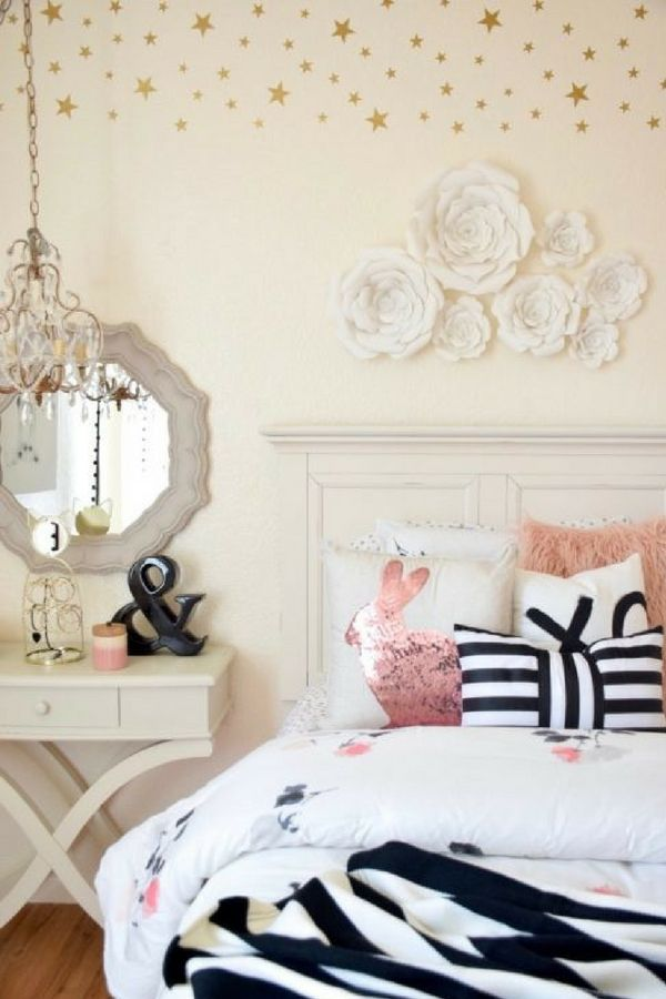 Girls Bedroom Makeover By Home And Fabulous : Lighting Ideas  Hanging  Chandelier By Opulent Treasures