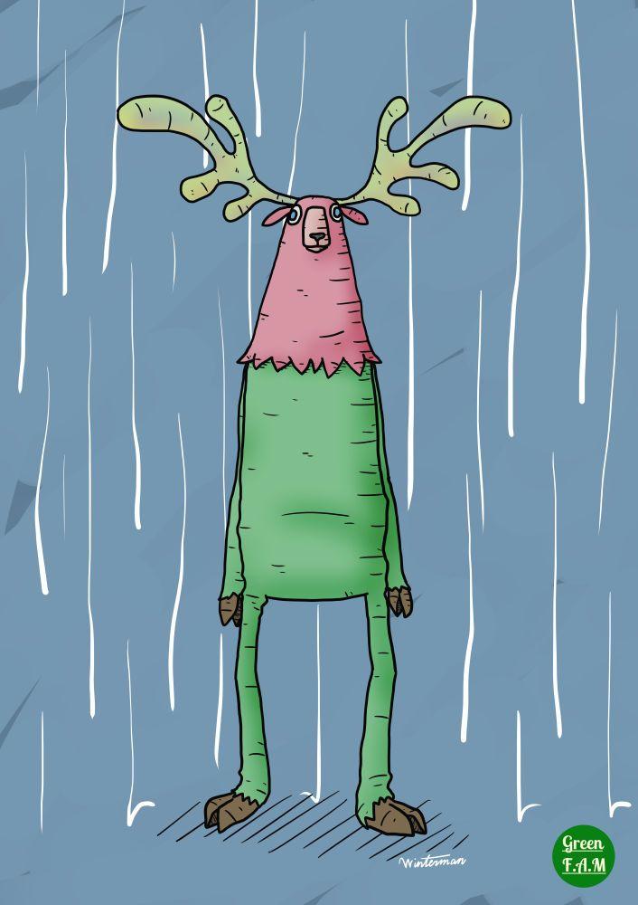 Illustrator Winterman World: Reindeer