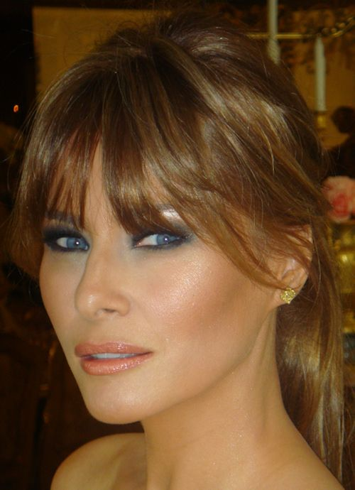 melania trump | Melania Trump's makeup was all a glow as she attended the 2011 Met ...