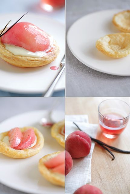 White Peach Tartelettes With Rosemary Sugar Recipes — Dishmaps