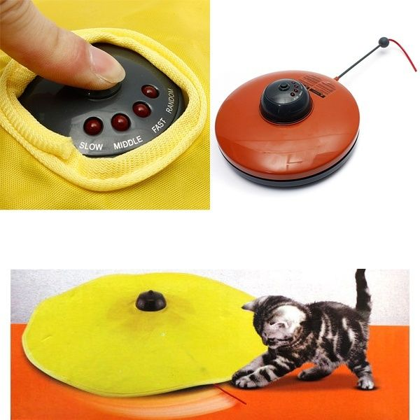 Wish | Cats Meow Undercover Fabric Moving Mouse Wand Cat Exercise Play Electronic Pet Fun Playing Toy (Cor: Vermelho)