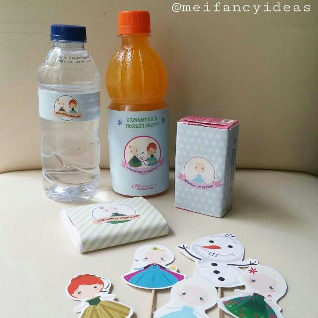 Frozen Fever Sweet Corner Label and Cupcake Topper   Follow Instagram @meifancyideas