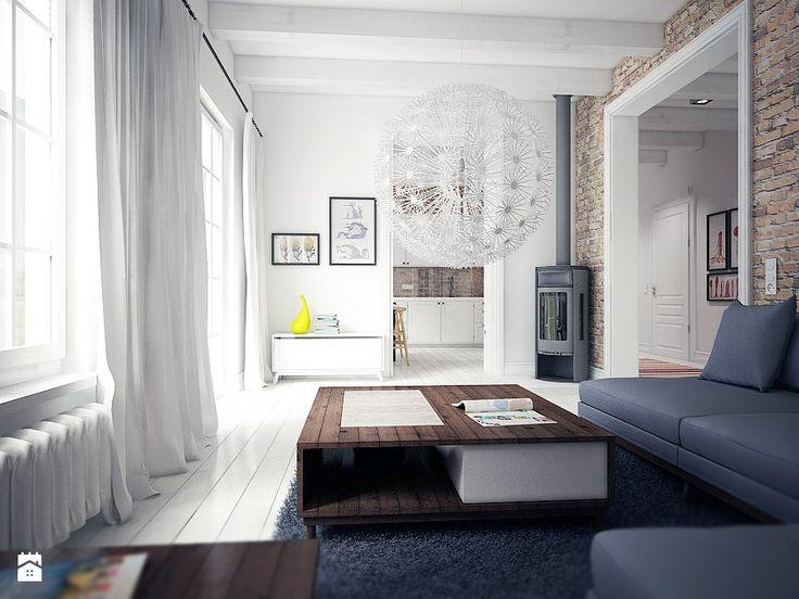 Skandynawski minimalizm - Salon - Styl Skandynawski - NatusDESIGN
