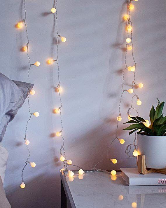Luxlumi Tiny White Globe String Lights