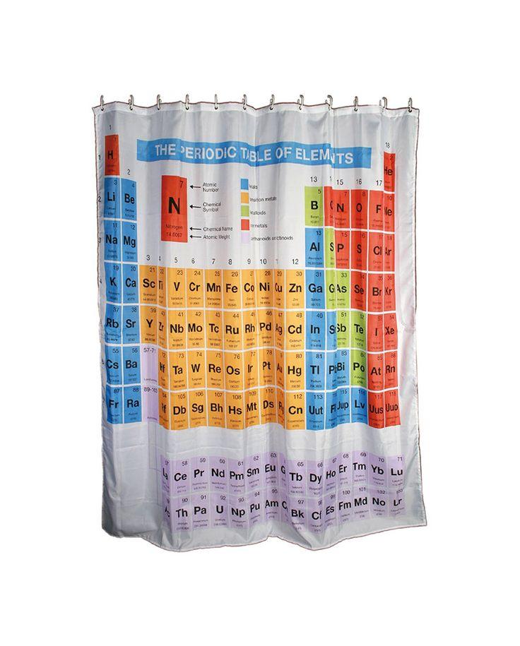 Cortinas De Baño Geek:Cortina de baño con diseño de tabla periodica #regalos #gifts