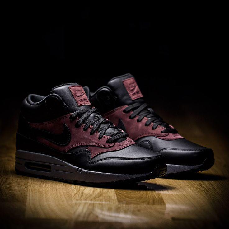 NIKE AIR MAX 1 MID DELUXE QS BLACK-BARKROOT BROWN 726411-002 - Nike