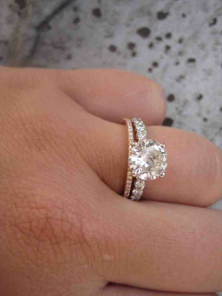 ring wedding three rings stone engagement bands match for to