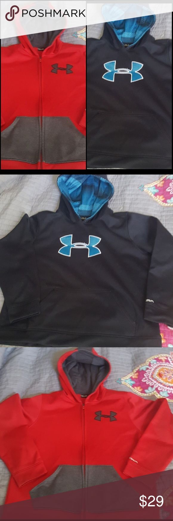 💥1 day BUNDLE SALE💥UNDER ARMOUR !!💥 💥BUNDLE SALE ENDS MONDAY!!💥 2 UNDER ARMOUR PULL OVERS!  LIKE NEW CONDITION! Under Armour Jackets & Coats