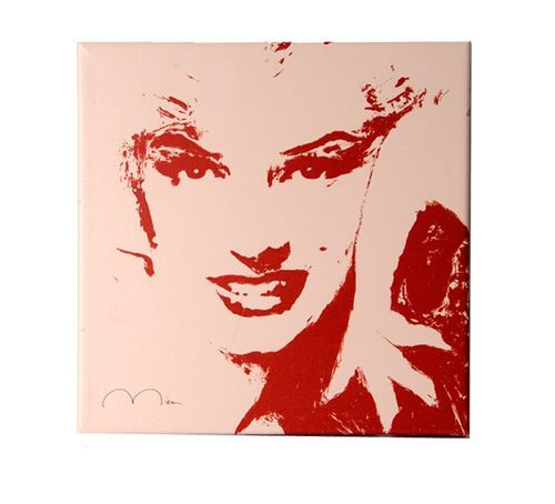 Red and White Marilyn 40x40 Lekkert maleri av Marilyn Monroe.
