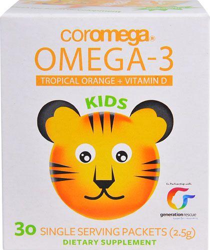 Coromega Omega 3 Kids Tropical Orange -- 30 Packets - Vitacost