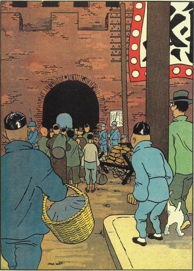 "Hergé - Tintin ""Le Lotus bleu"" 1936 - Editions Casterman"
