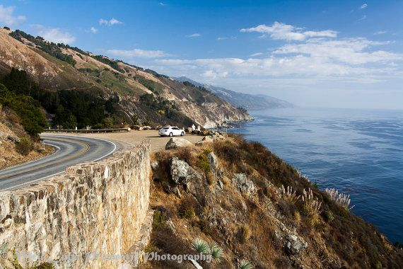 California Coast Ocean Photography, California Highway 1 Big Sur, Open Road, Travel Landscapes, On the road scenes, Road Trip Photography