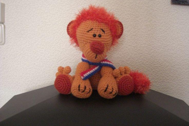 Oranje leeuw voor 'n vriend