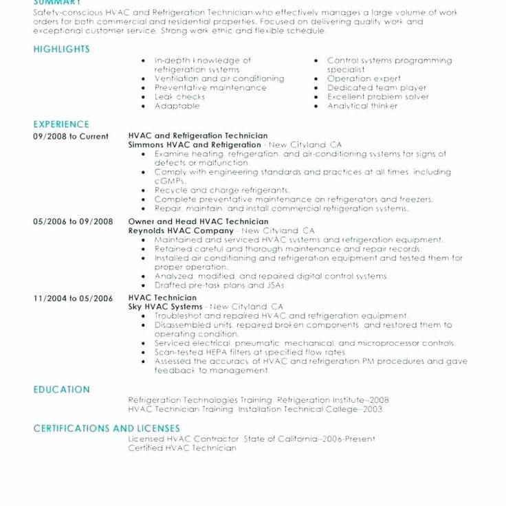 Hvac Technician Job Description Resume Awesome 12 13 Hvac