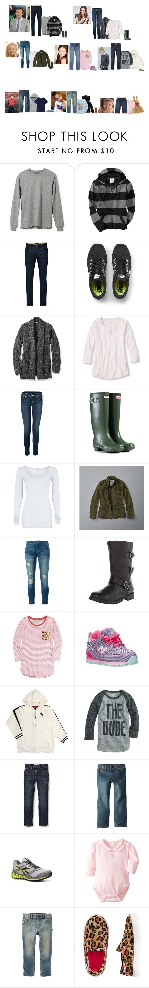 """""""The Hope family 11/12/16"""" by the-hope-family ❤ liked on Polyvore featuring L.L.Bean, Old Navy, Jack & Jones, NIKE, True Religion, Hunter, American Vintage, Abercrombie & Fitch, MICHAEL Michael Kors and Gymboree"""