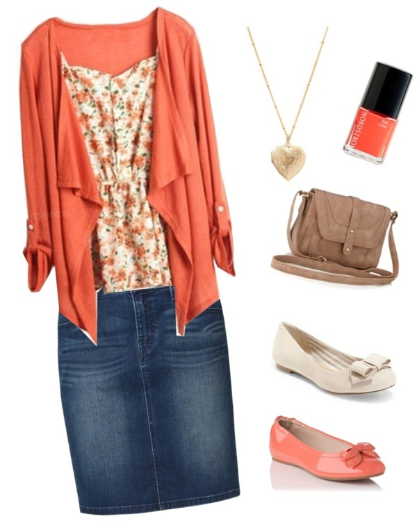 """peach day outfit"" by kaitlyn-tiffany-clark ❤ liked on Polyvore"