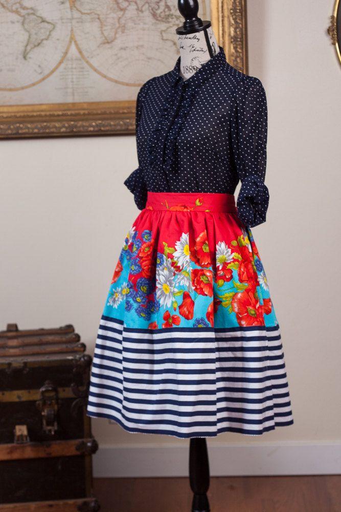 Cupro Skirt - DOODLE ROSES BLUE by VIDA VIDA Big Discount Sale Online Free Shipping Online jRo6i6Kk