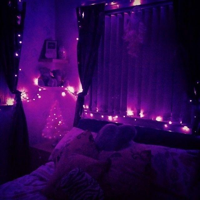 Image Result For Purple Lights Room