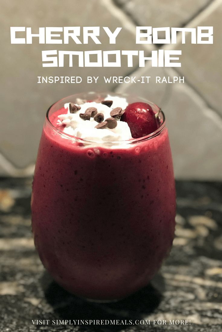 Cherry Bomb Smoothie - Wreck It Ralph inspired