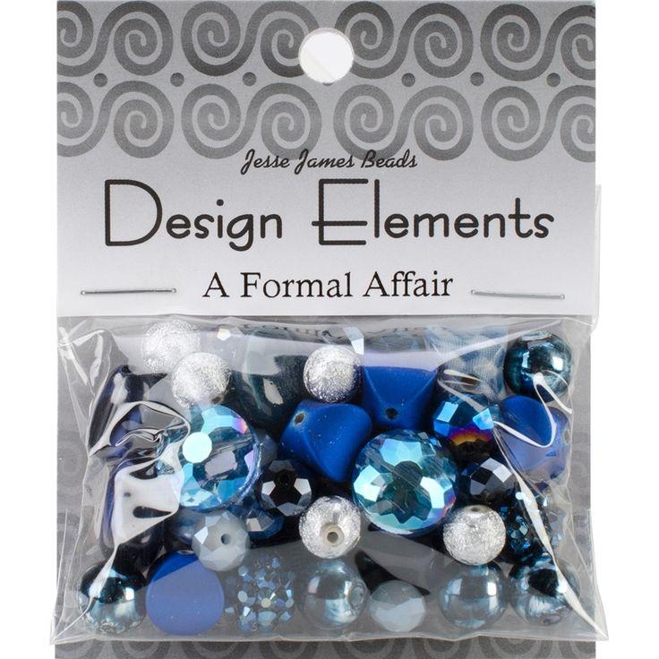 Jesse James Design Elements Beads 28g-A Royal Affair - a royal affair