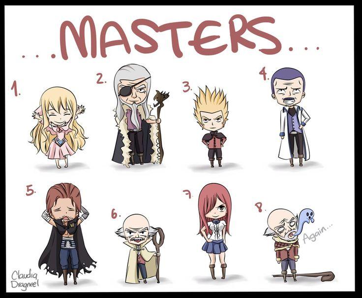 Fairy Tail Masters Makarov Dreyar Mavis Gildarts Erza by claudiadragneel